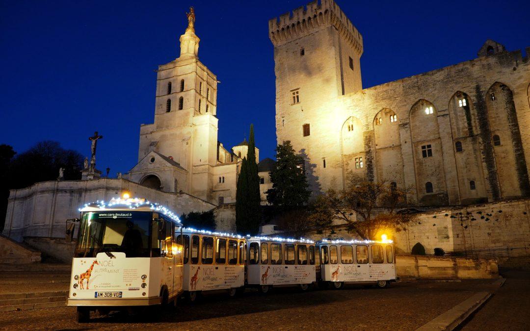 Le Petit Train d'Avignon fête Noël