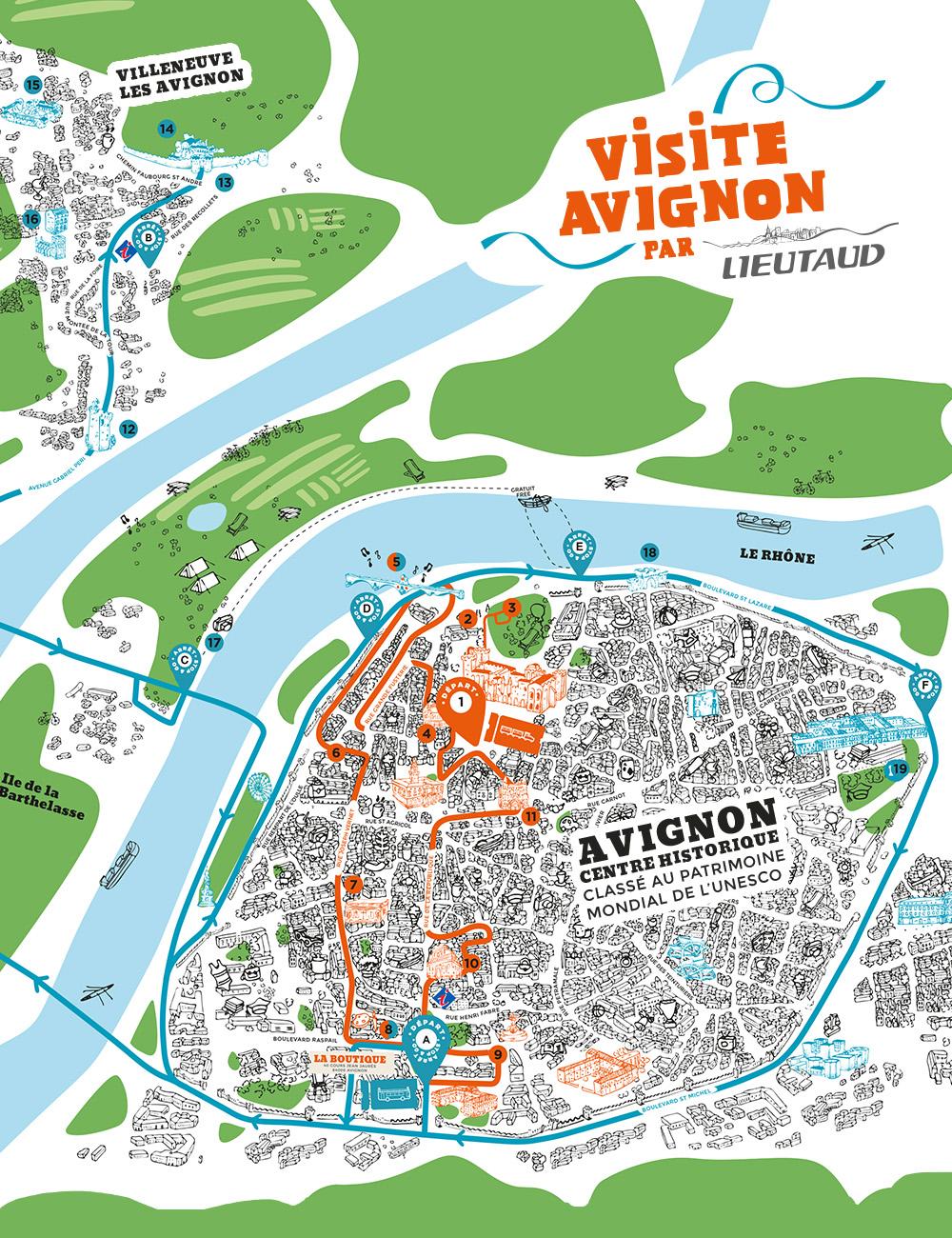 Discover the Little Train Open Tour Itineraries Visite Avignon